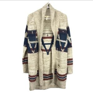 Forever 21 Cardigan Sweater Aztec Tribal Open S
